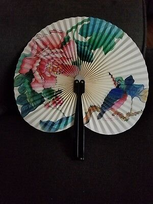 Vintage Fold Up Hand Fan Made In The People's Republic Of China
