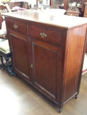 antique cupboard/ sideboard 2 drawers and cupboard section