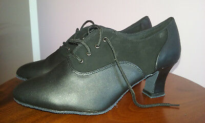 Black leather Vivaz dance shoes 8