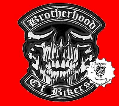 BROTHERHOOD OF BIKER  * PIN * SKULL Anstecker NEU