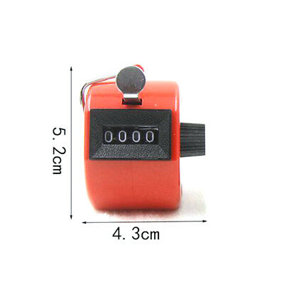 Tally Counter Hand Held Clicker 4 Digit Chrome Palm Golf People Counting Club N8