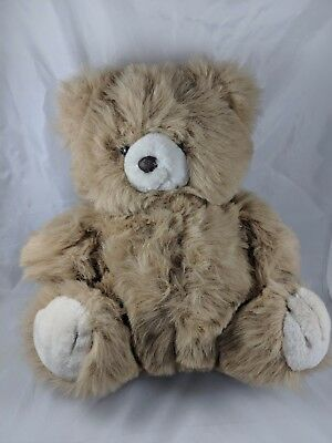 "Vintage Tan Teddy Bear Plush 13"" Animal Toys Inc 1988"