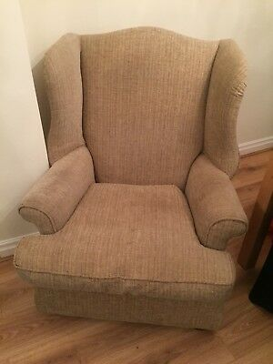 Fireside Wingback Queen Anne Style Arm Chair