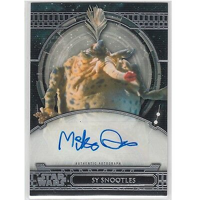 Topps Star Wars 40th Anniversary Autograph Card AA-MQ Mike Quinn as Sy Snootles