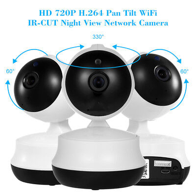 720P Wireless Wifi Pet Baby Monitor Audio Infrared Night Vision Alarm IP Camera