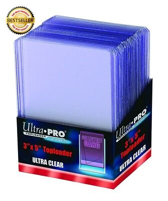 """25 Ultra Pro Tall Cards Widevision Toploader - Ultra Clear - Top Loader - 3"""" x 5"""