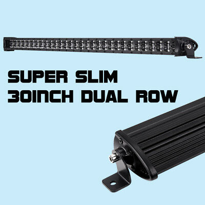 "30"" 18000LM CREE 8D Super Slim Single Row LED Work Light Bar Off Road SUV ATV"