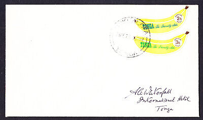 Banana stamps on 1973 Local Tonga Cover from Nukualofa to International Hotel