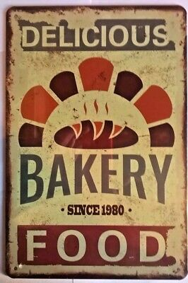 Vintage- Retro - Chic- Metal Wall Sign- Plaque- Bakery -Large Size-275