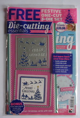 Die-cutting Essentials 29, 3 dies. Christmas panel tree santa sleigh this issue