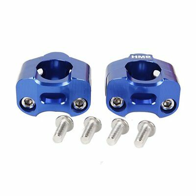 HMParts Pit Bike Dirt Bike ATV Alu Lenkerklemme Lenkerklemmen Set 28 mm blau