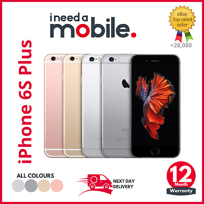 Apple iPhone 6S Plus - 16GB 64GB 128GB - Unlocked- All Colours-12 MONTH WARRANTY