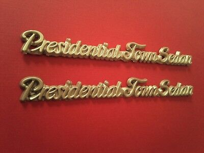 2 Presidential Town Sedan Car Emblem Chrome Lincoln Town Car New E G