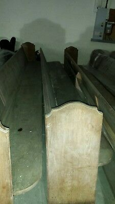 church pew benches