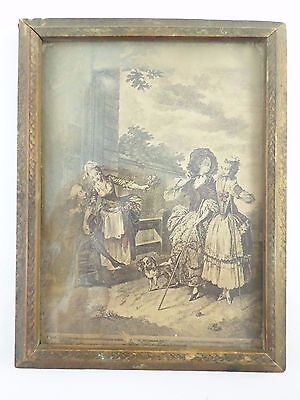 """Antique 2 Sided Mirror & Picture Frame - Carved Wood - 7"""" X 9"""" - Some Damage"""