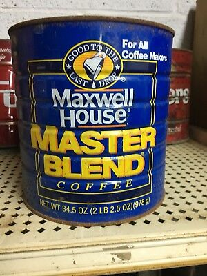 Vintage MAXWELL HOUSE Coffee Can Tin 2 lb, 2.5 oz. i also have Folgers-see my pg