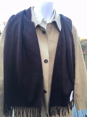 Alex Begg & Co.  100% Cashmere Scarf In Brown New with tags