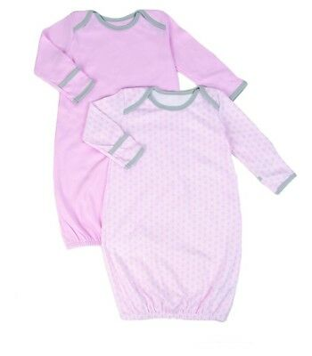Baby nightgown open bottom Tadpoles Set of 2 Starburst Sleep Gowns, Pink, 0-6 m