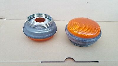 LANDROVER ARMY/ MILITARY SCREW ON LIGHT LENSES ( USED IN VGC ).indicators.