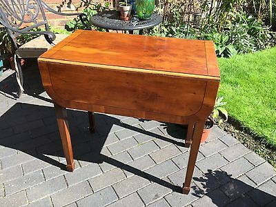 Reproduction antique yew pembroke table