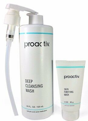 Proactiv 24 oz Deep Cleansing Wash 3 oz Mask proactive cleanser  7-2019 exp