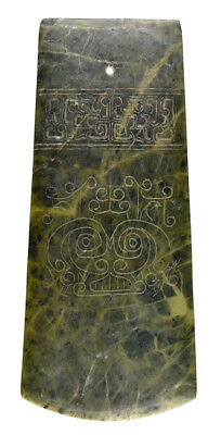 Gorgeous Chinese Jade Insignia Axe / Pendant