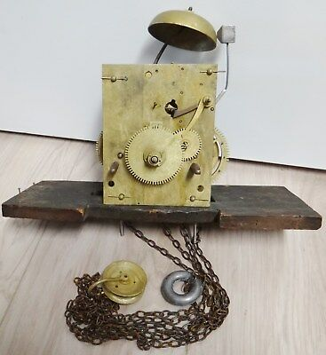 Good, Working, Endless Chain Grandfather Clock 30 Hr Movement - circa 1830