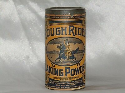 Vintage Rough Rider Baking Powder tin - Unopened
