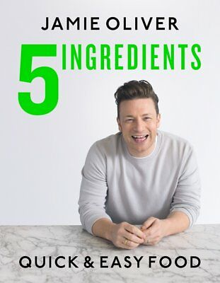 Jamie Oliver 5 Ingredients Quick and Easy Food Hardcover Cooking Book BRAND NEW