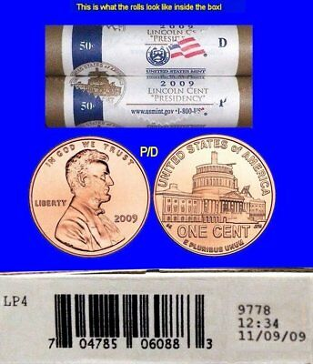 2009 Lincoln BiCentennial Cent PRESIDENCY Mint Box LP4 11/09/09 Possible Errors?
