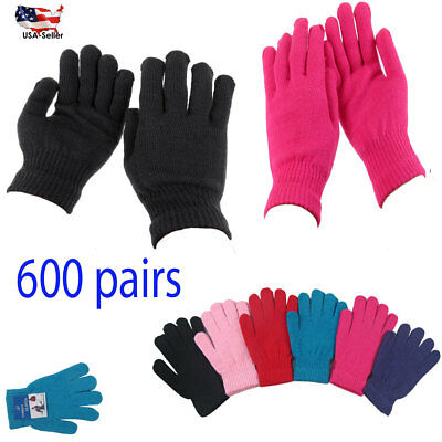 600 pairs Men's Women Warm Winter Gloves Knit Knitted Wholesale Lots Xmas Gift