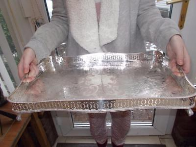 Silver Plated Serpentine Gallery Tray Ball & Claw Feet