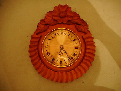 Vintage Wood Carved Wall Clock