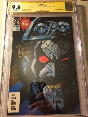 LOBO #1 DC 1990 CGC 9.6 SS Signed By Bisley/ Giffen W Giffen Sketch, Rare