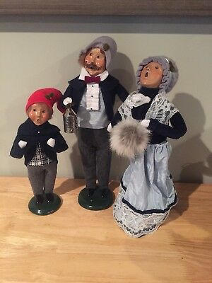 Vintage Byers Choice Carolers lot of 3