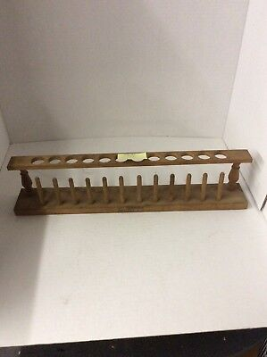 Vintage Wood Test Tube Holder (1920?) Will Corporation Rochester NY