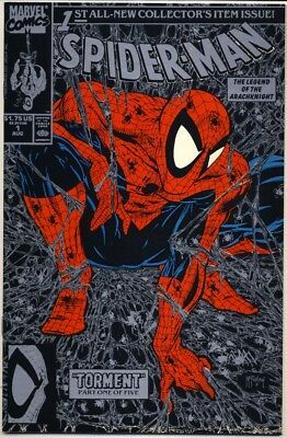 SPIDER-MAN #1 1990 SILVER EDITION NM+ 9.6 Direct Sales Only TODD MCFARLANE