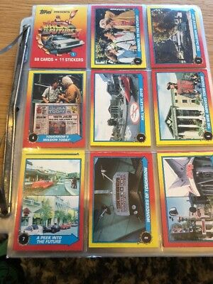 Back To The Future 2 Topps Cards 88 Cards 11 Stickers COMPLETE