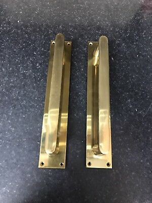 Two Brass D Handles, Door Furniture, Door Pull Handles