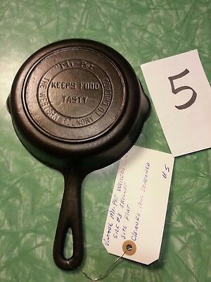 Vintage Mi-Pet Western Foundry Chicago Cast Iron #3 Skillet Very Nice Flat