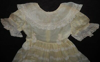 Beautiful Vtg. Sheer & Lace 1950's Little Girl, Hand Made Dress, Ruth Harless