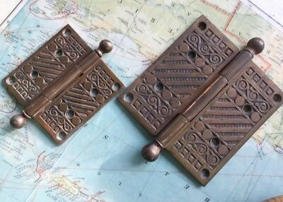 Antique Door Hinges Ornate Storm Lake  Iowa Courthouse 1880s Hardware