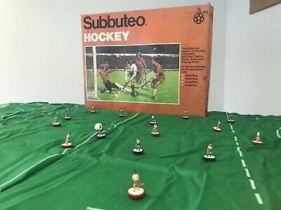 1980s EXTREMELY RARE SUBBUTEO HOCKEY TABLE GAME 99% COMP SPARE BALL MISSING