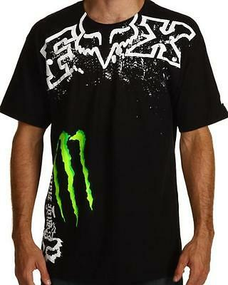 NEW FOX RACING MONSTER ENERGY MENS T-SHIRT TEE BNWOT SZ  S M L XL XXL - Genuine