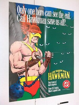 Shadow War of the Hawkman promo poster (DC Comics 1984) Richard Howell