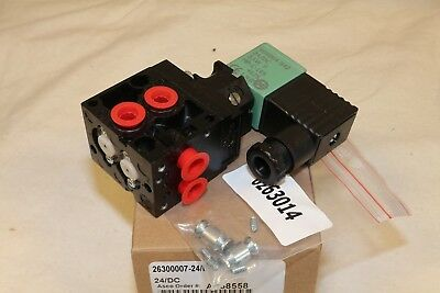 "ASCO 1/8"" Zinc Body 4-Way Group Mounted Inline Direct Acting Solenoid Valve"