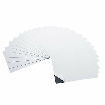 5 x 7 Inch Strong Flexible Self-Adhesive Magnetic Sheets (25 Pieces)