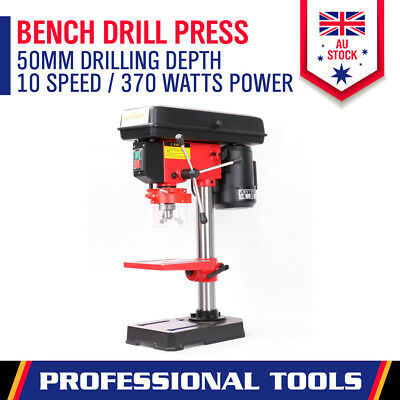 New Bench Drill Press 5 Speed Drilling Workshop Mounted Chuck Size 1.5-13mm 250W