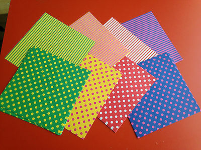 80 Sheets Double Sided  Dots & Stripes Japan Chiyogami Decorative Origami Paper