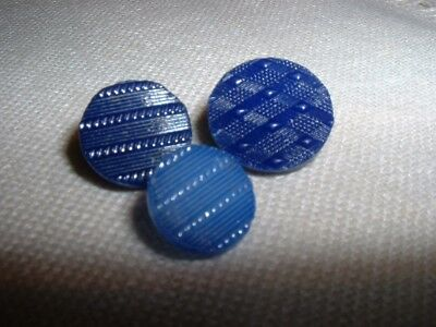 Three Antique Two-way Inserted Self Shank China Buttons - Briare, France   #c7